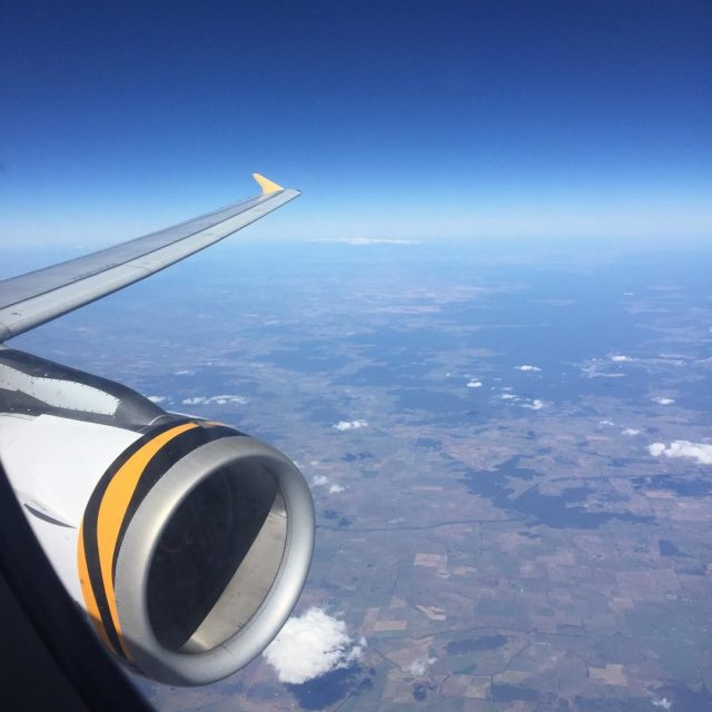 Flying the big kittie to Melbourne tigerair gg2050 travelbeyond planehellip