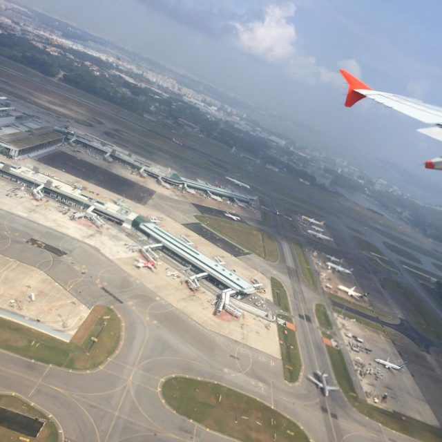 Grey clouds over Changi changiairport singapore flight clouds sky airporthellip