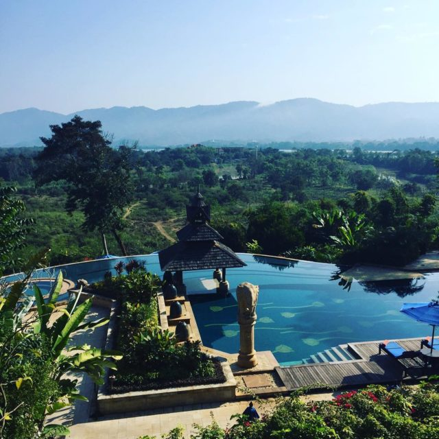 Morning across three countries anantarahotels anantaragoldentriangle thailand myanmar laos elephanthellip