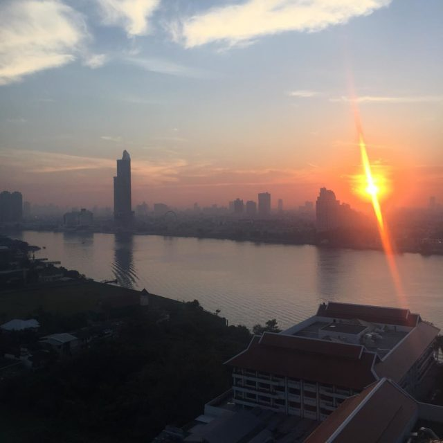 Sunrise in Bangkok over anantarariverside from avaniriverside thailand resort gg2050hellip