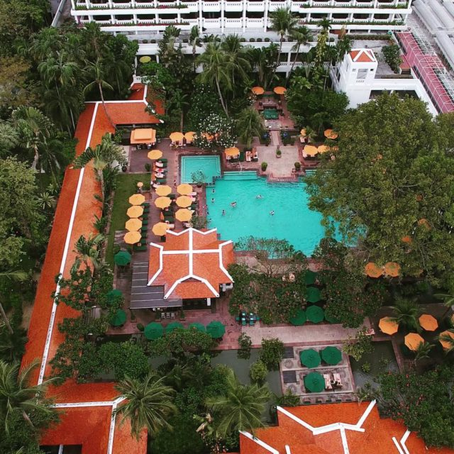 Birds eye view of anantarahotels anantarariverside pool hydroponics resort phantom4hellip