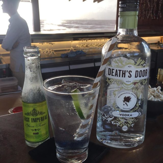 First drink deathsdoorspirits vodka tonic eastimperial knaibangchatt gg2050 travelbeyond sustainabletourism