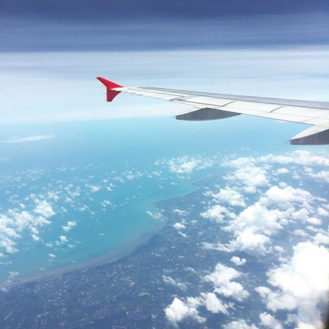 Gulf of thailand from 33000 feet airasia airplane a320 flyinghellip